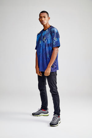 CROWE OVERSIZED NAVY BLUE T-SHIRT