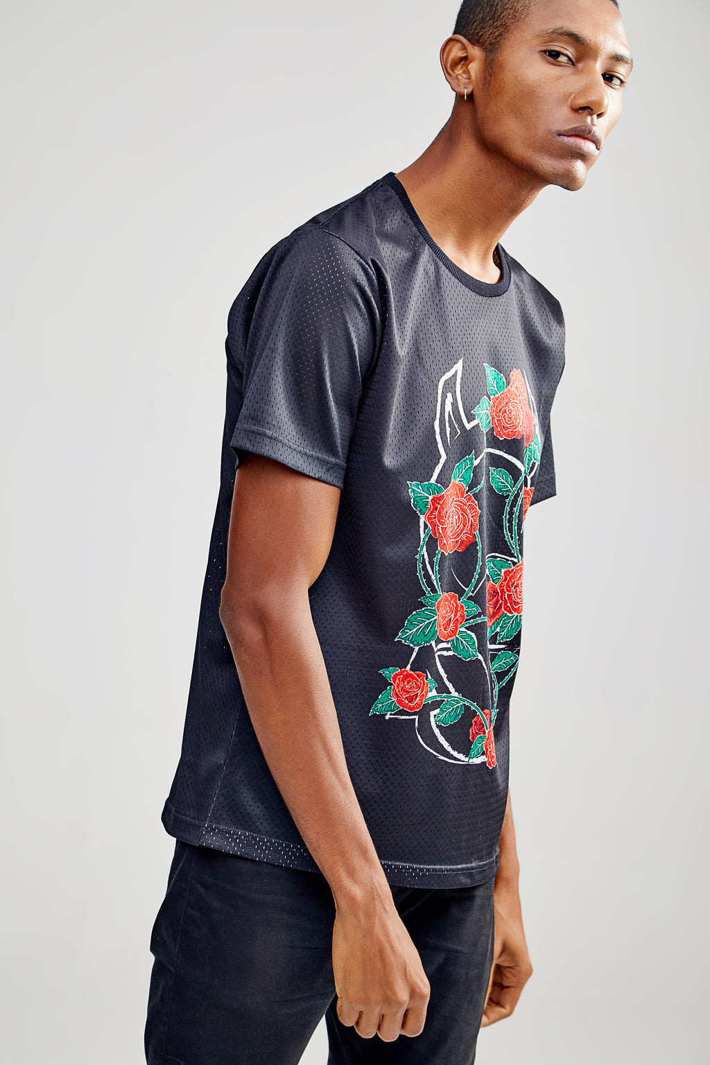 OG FLOWER BLACK T-SHIRT