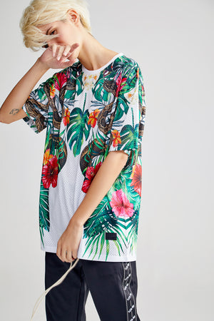 WATERCOLOR OVERSIZED WHITE T-SHIRT