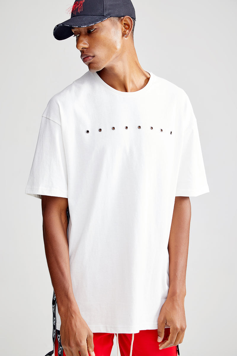 PANTHER OVERSIZED WHITE T-SHIRT