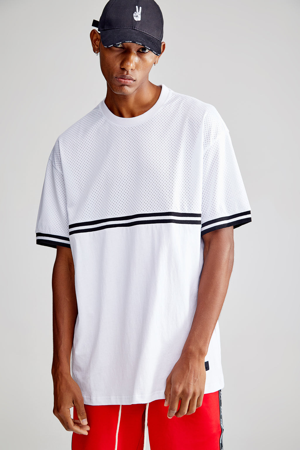 ELBA OVERSIZED WHITE T-SHIRT