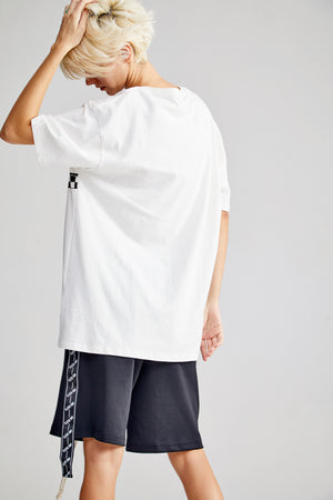 RACING OVERSIZED WHITE T-SHIRT