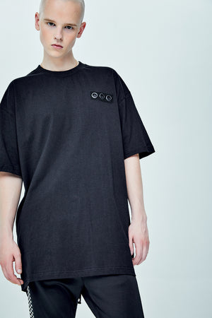 SKURGE OVERSIZED BLACK T-SHIRT