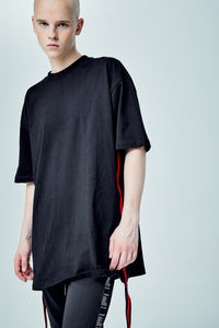 VOLTAGES OVERSIZED BLUE SIDE PANEL T-SHIRT
