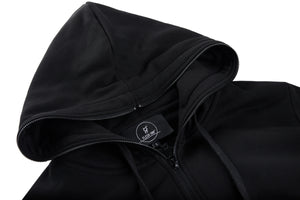 ONLY ZIPPER BLACK HOODIE