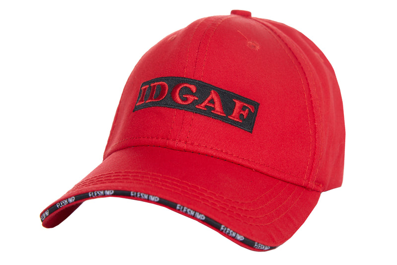 IDGAF RED STRAPBACK