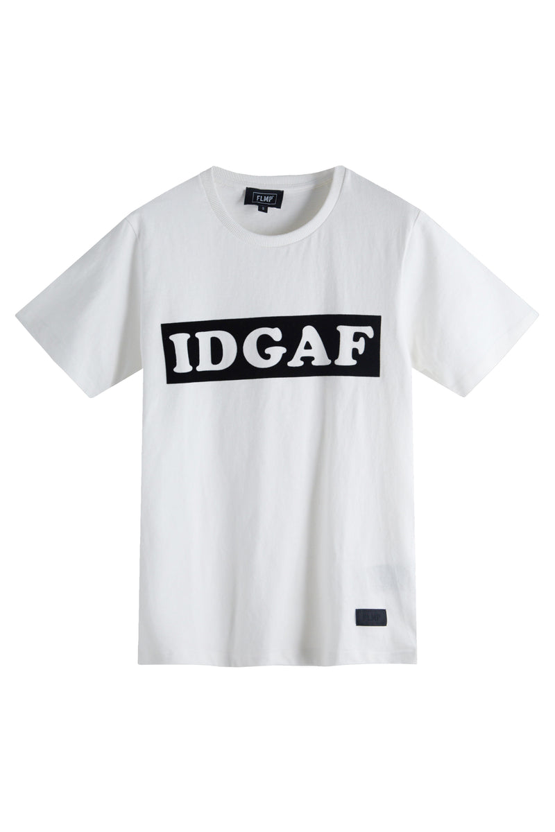IDGAF WHITE T-SHIRT
