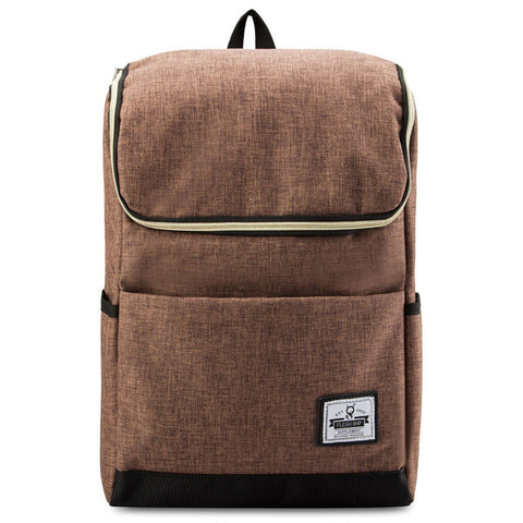 POPLIN BROWN BAGPACK