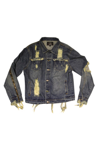 RUSTY DISTRESSED DARK BLUE DENIM JACKET
