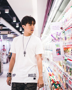 RULES WHITE LONGLINE T-SHIRT