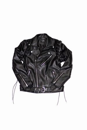 WERPA BLACK LEATHER JACKET