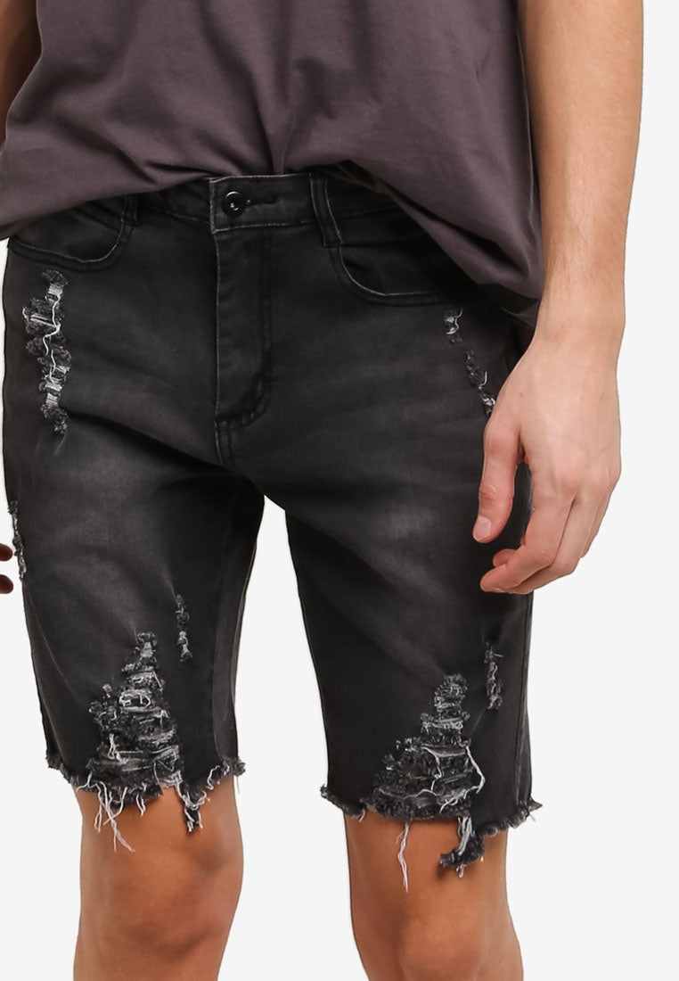 COOPER BLACK DENIM SHORTS