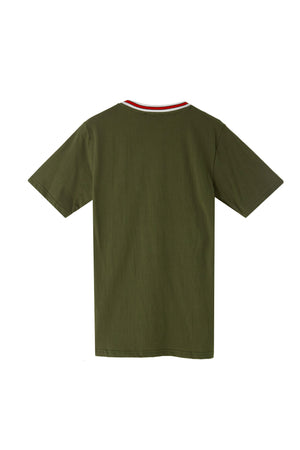 BADGES OLIVE T-SHIRT