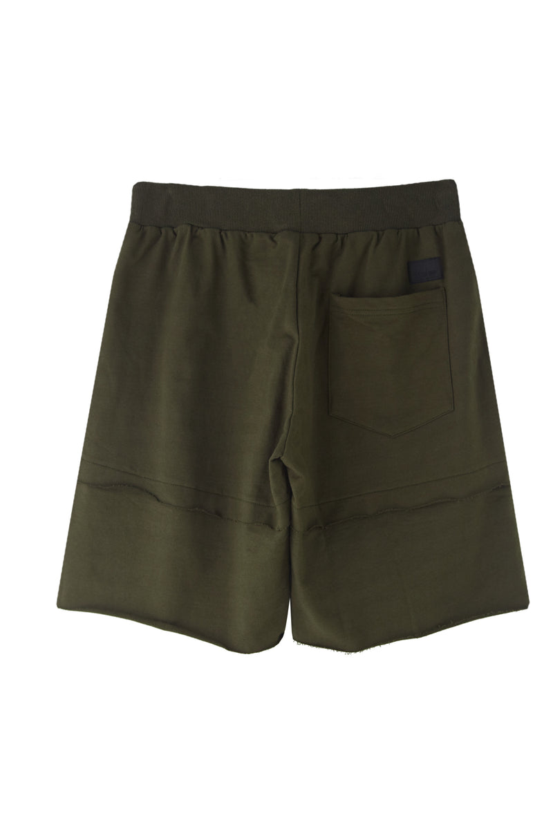 LAYERED OLIVE SHORTS