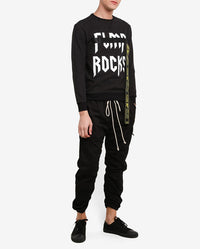 ROCKS BLACK SWEATER