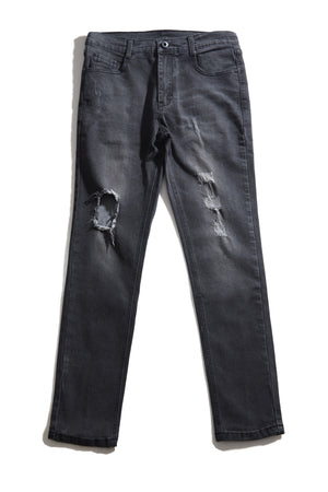 CHAD BLACK DISTRESSED JEANS
