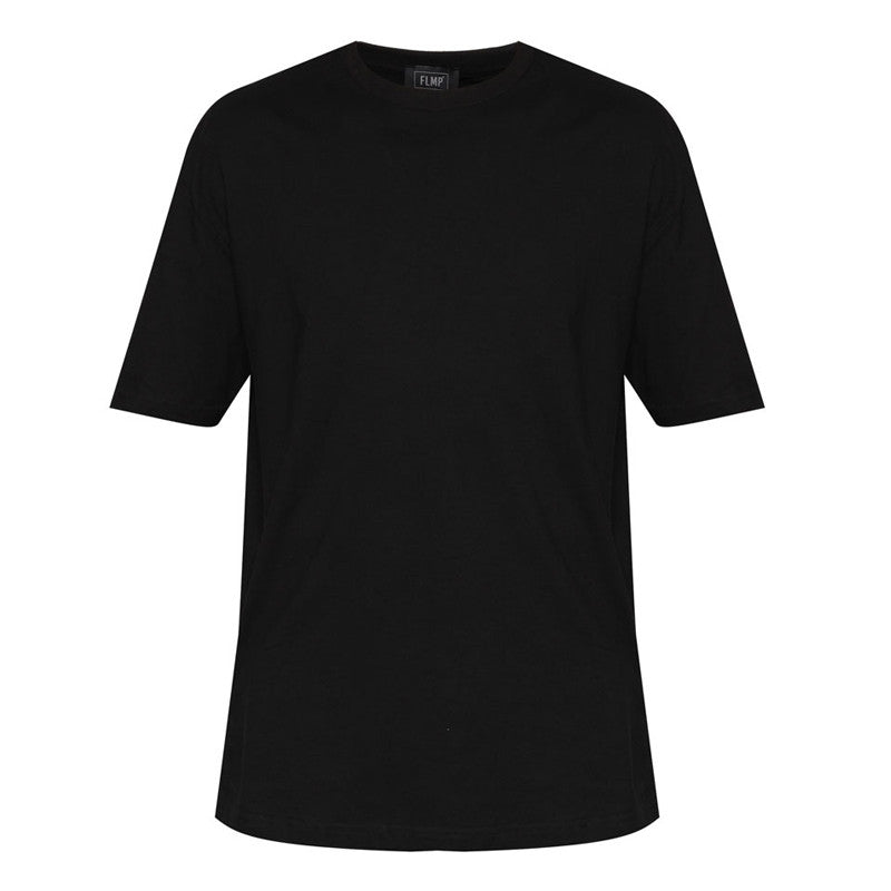 WOVEN STRAP BLACK OVERSIZED T-SHIRT