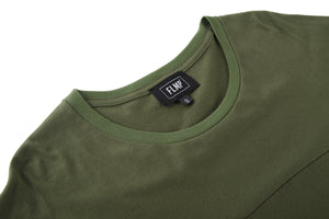 TAPE OVERSIZED OLIVE T-SHIRT