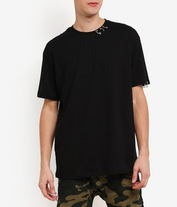 RING BLACK OVERSIZED T-SHIRT