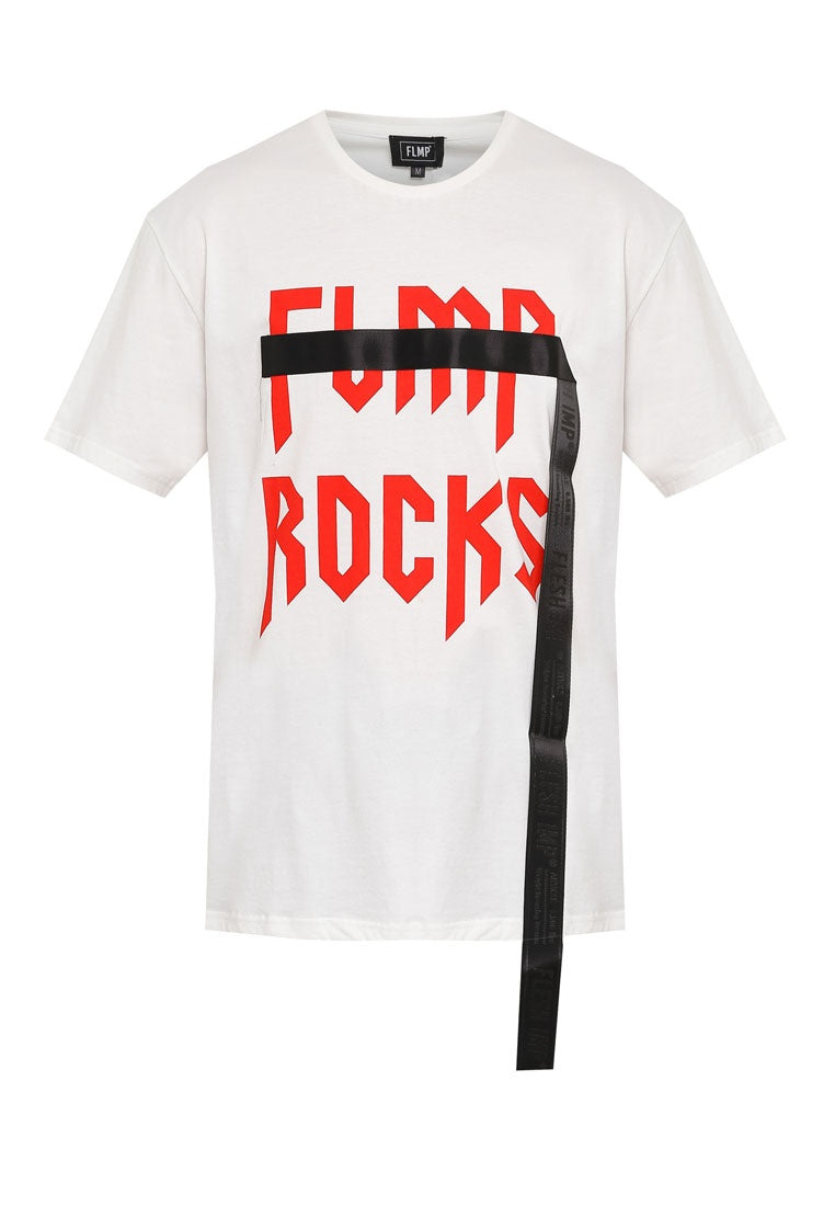 ROCKS BOX CUT WHITE T-SHIRT