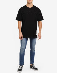 LACES BLACK OVERSIZED TEE
