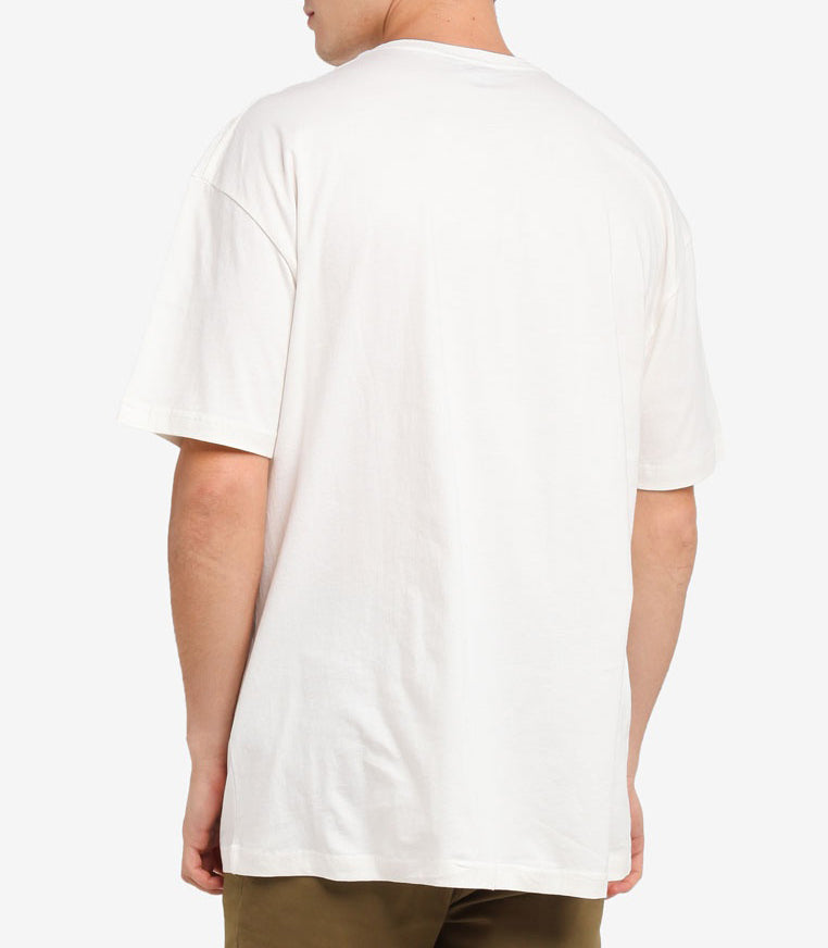 LOOPED WHITE OVERSIZED T-SHIRT