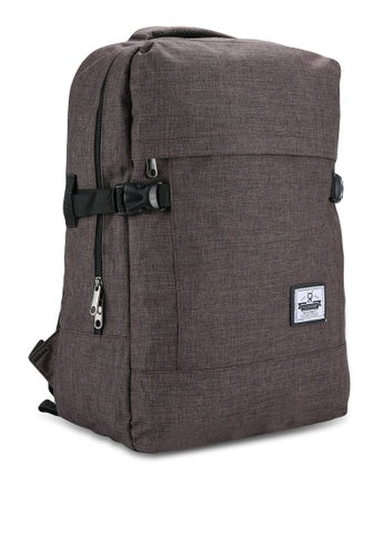 SCALLOP DARK BROWN BAGPACK