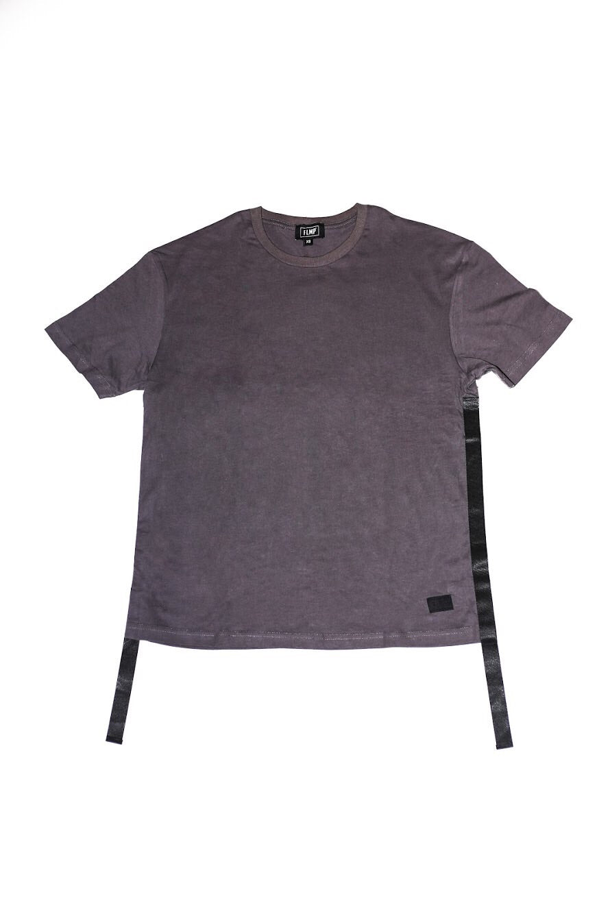 WOVEN DARK GREY OVERSIZED T-SHIRT