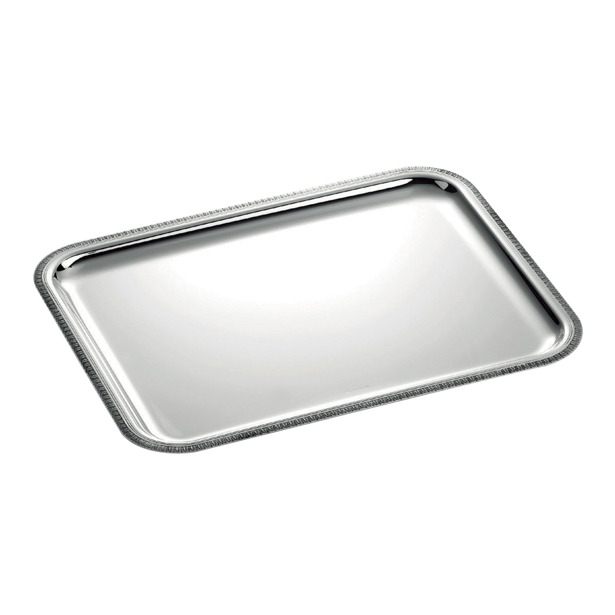 Christofle rectangular tray Large Malmaison rectangular yacht service tray
