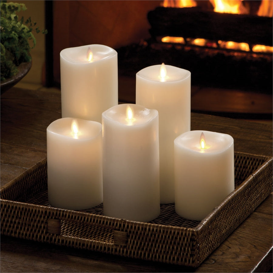 Luminara Lightli battery operated moving flame LED candle Classic LED Pillar Candle Ivory