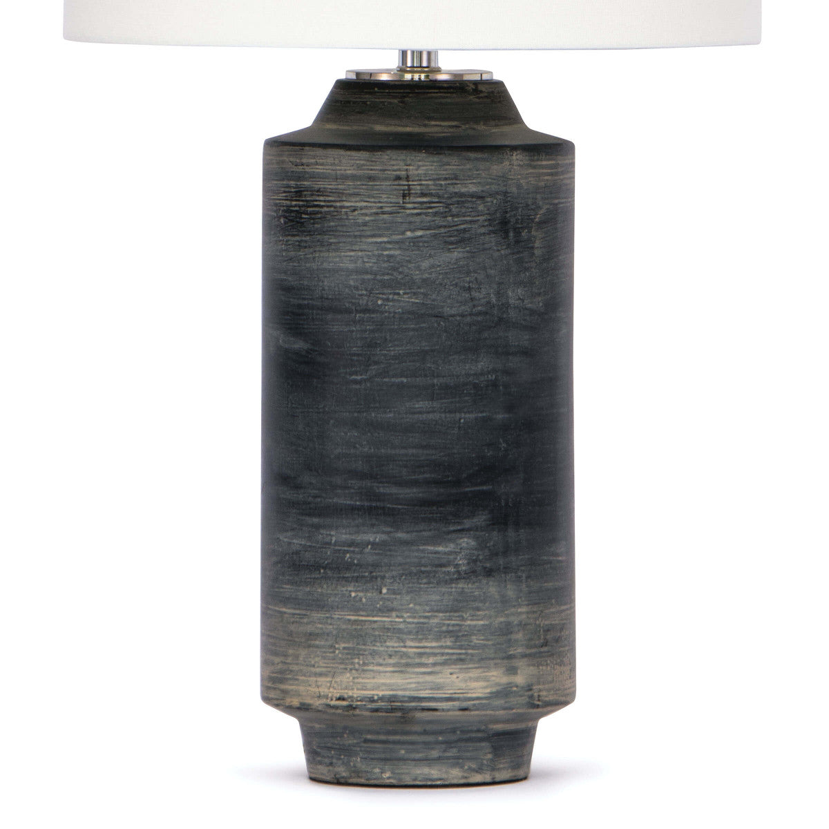 black cylinder lamp, black ceramic lamp, rustic lamp, rustic ceramic lamp, drum shade