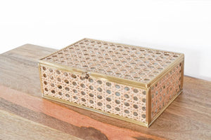 Natural Cane Wicker Box Medium