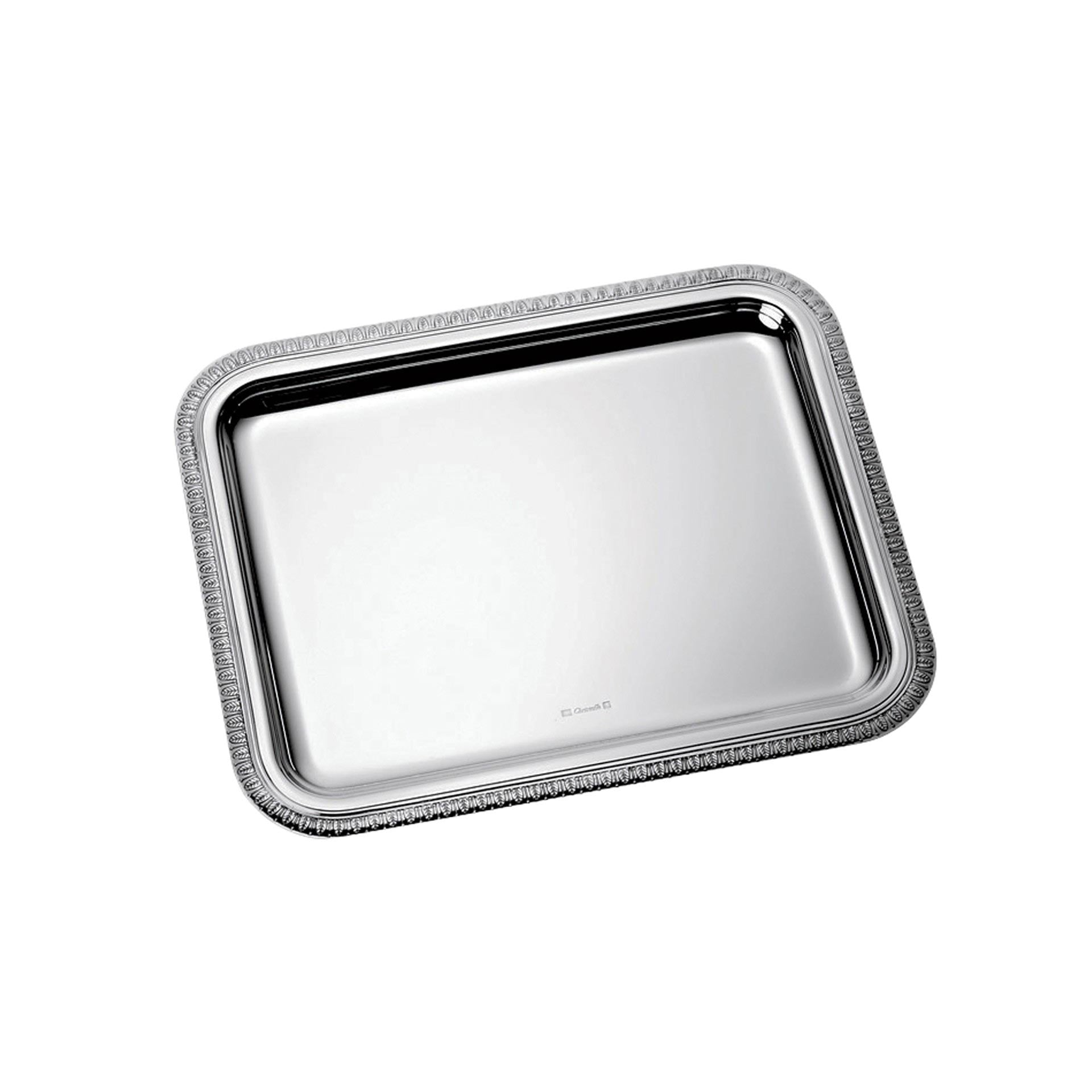 Christofle rectangular tray small Malmaison rectangular yacht service tray