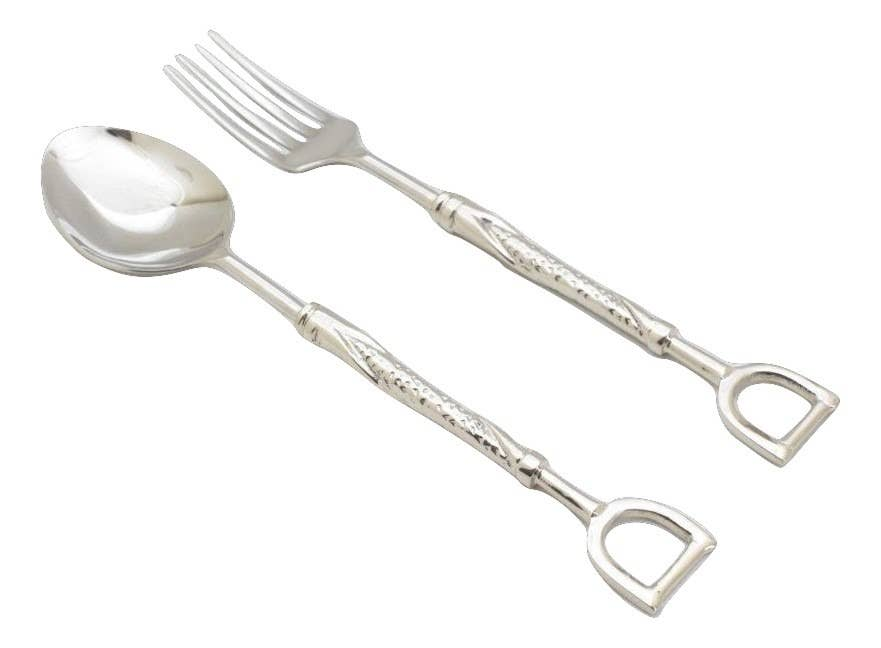 Equestrian Salad Server Set