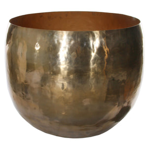Oversized Brass Planter