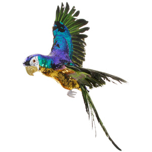 Sequin Parrot in Flight
