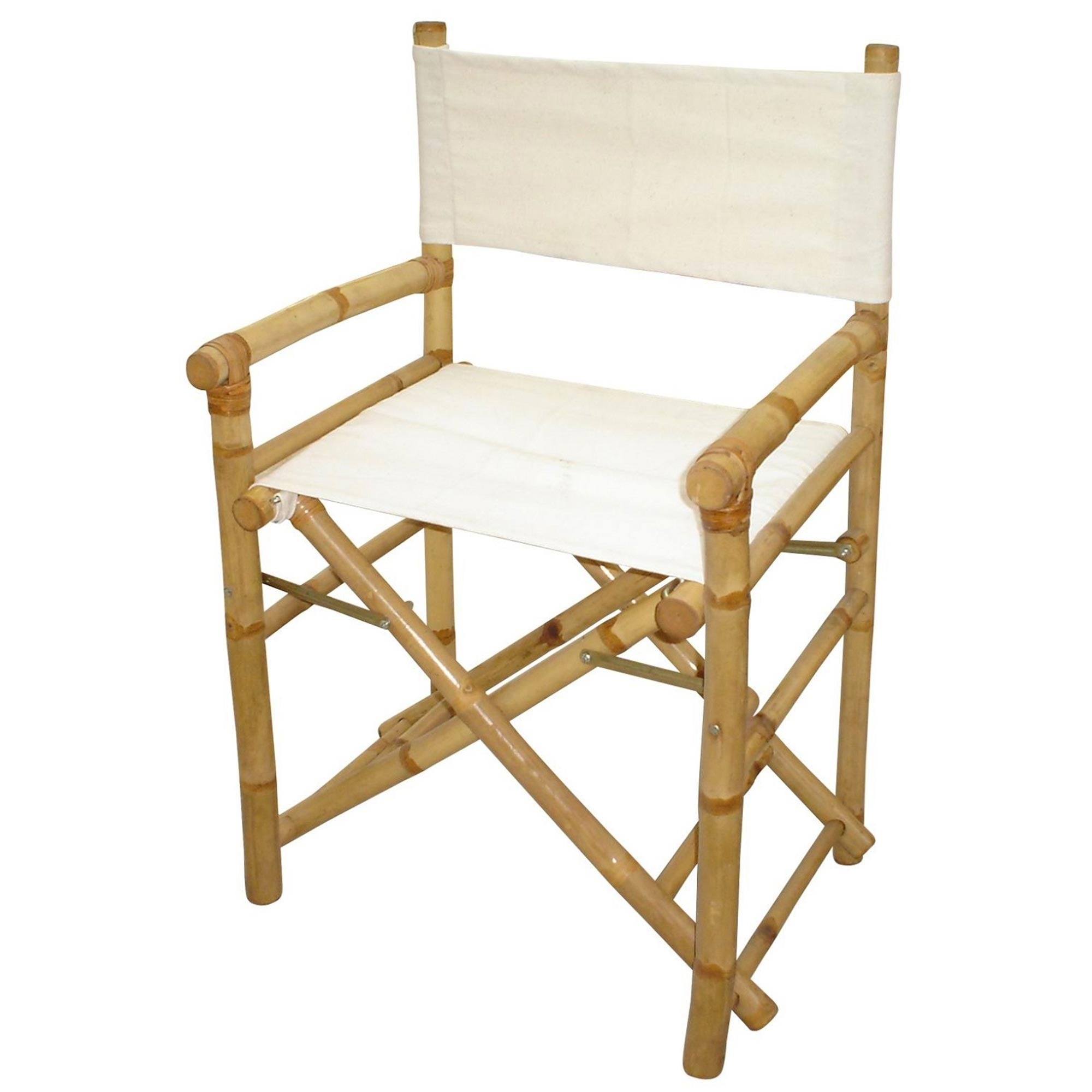 Bamboo Folding Director's Chair (set of 2)
