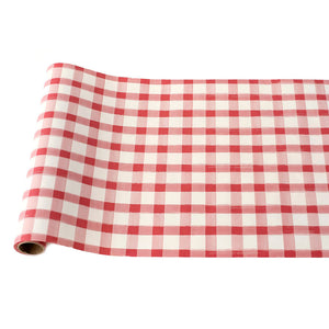 Red Check Table Runner
