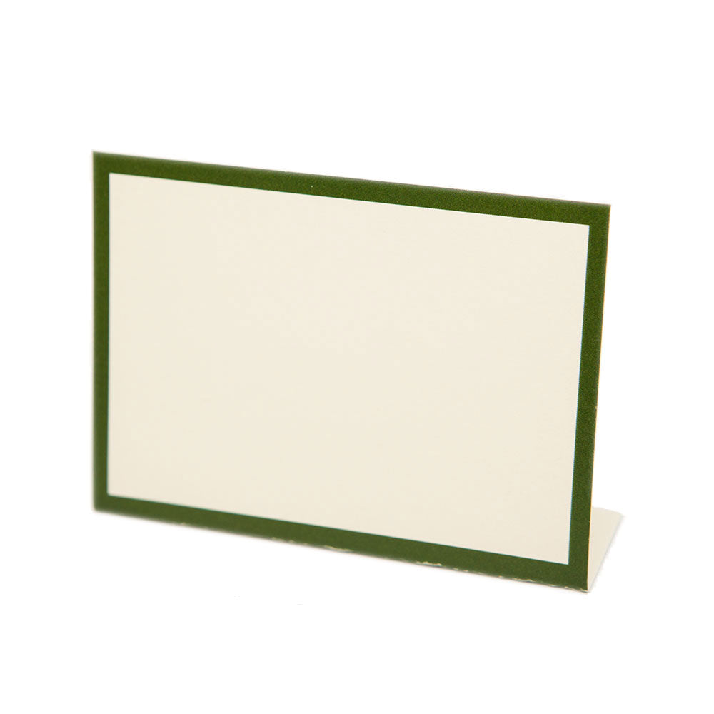 Classic Place Cards Dark Green (12pk)