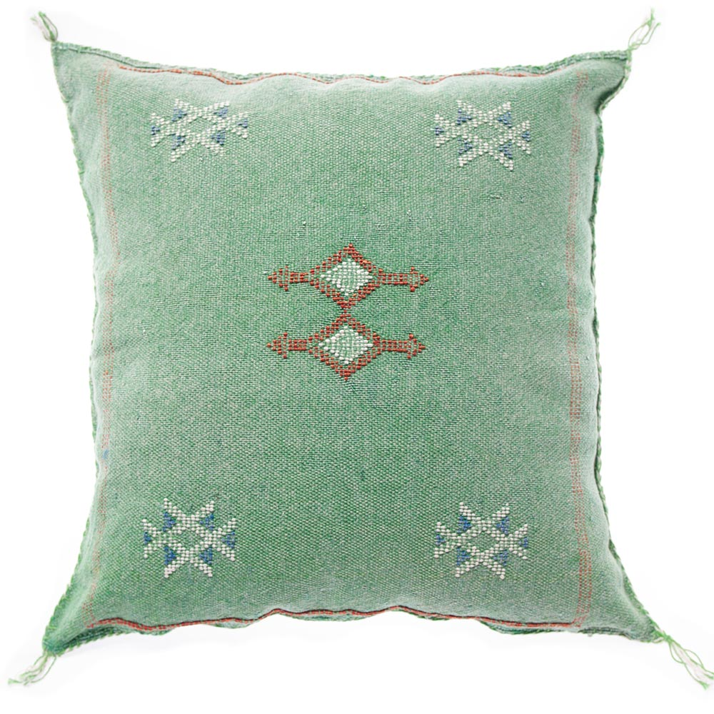 Moroccan cactus silk pillow green|cactus silk pillows|Moroccan silk pillow|Moroccan pillow green|Boho pillow|Boho decor