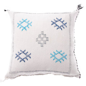 white Moroccan cactus silk pillow cream sabra pillows sabra silk pillows Moroccan imported pillows