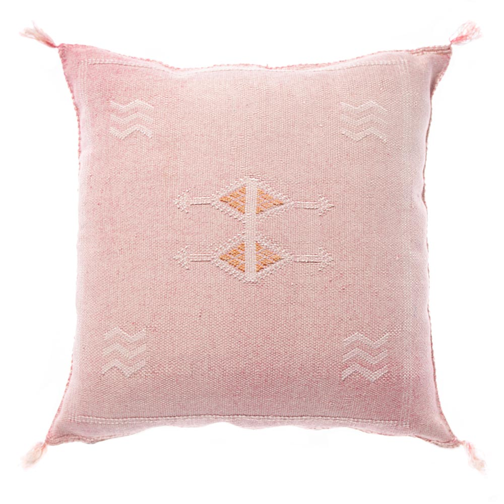 Pink Moroccan cactus silk pillows sabra pillows sabra silk pillows Moroccan imported pillows