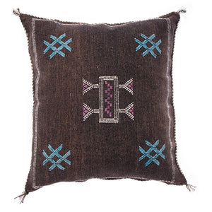 Black Moroccan cactus silk pillows sabra pillows sabra silk pillows Moroccan imported pillows