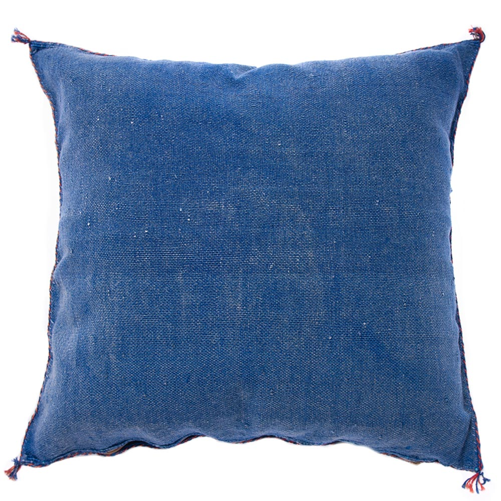 Blue Moroccan cactus silk pillows sabra pillows sabra silk pillows Moroccan imported pillows