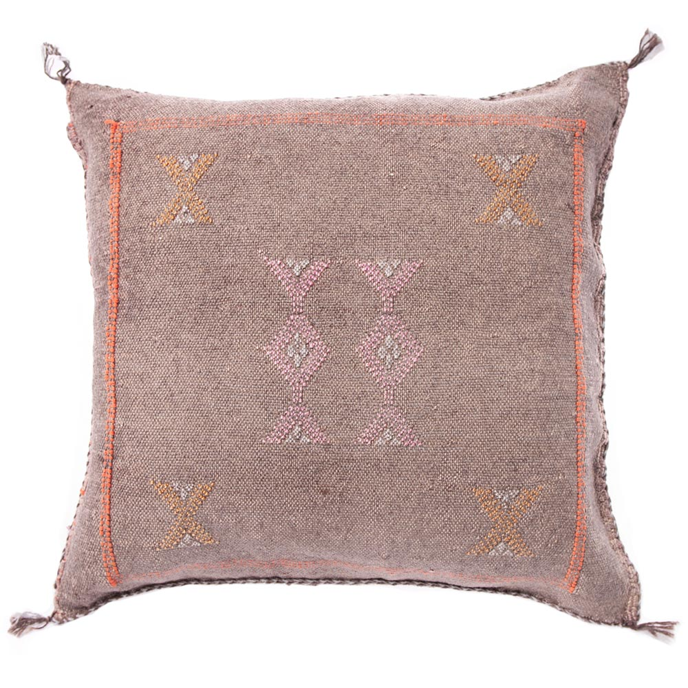 Brown Moroccan cactus silk pillows sabra pillows sabra silk pillows Moroccan imported pillows