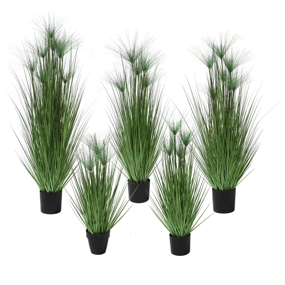 artificial grass plant tall faux grass papyrus grass