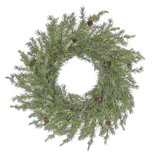 Faux Cypress Wreath 24""