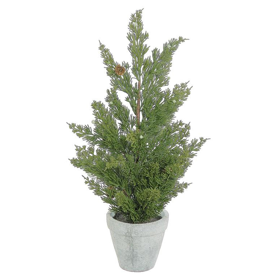 Faux Cedar Tree in Pot 24""