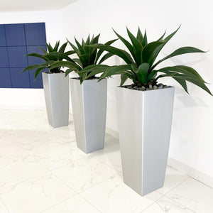 faux agave for condo lobby faux aloe plants for commercial building