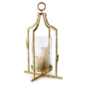 Metal chinoiserie Lantern metal candleholder metal hurricane metal luminary glass lantern